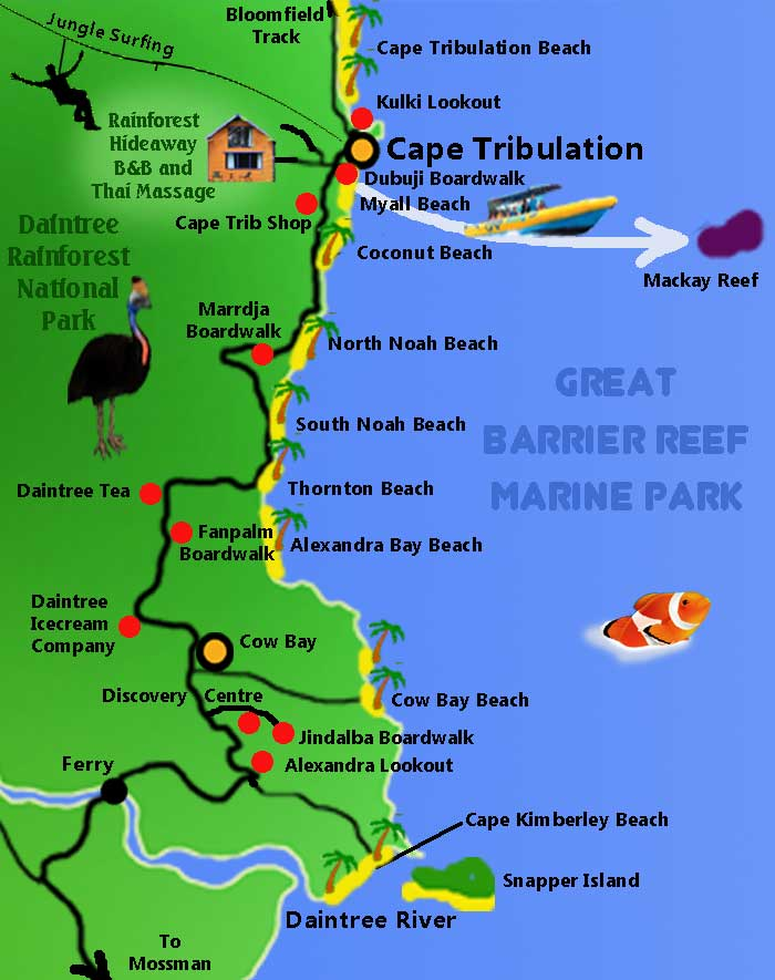 Maps all cairns tours daintree map gumiabroncs Image collections